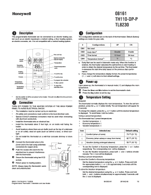 honeywell tl8230 manual