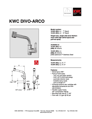 fillable online kwc divo arco fax email print pdffiller rh pdffiller com