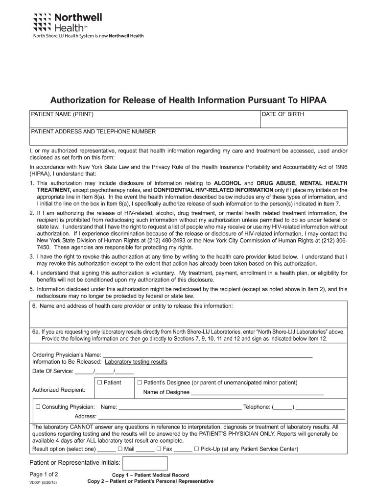 Hipaa Release Form South Carolina