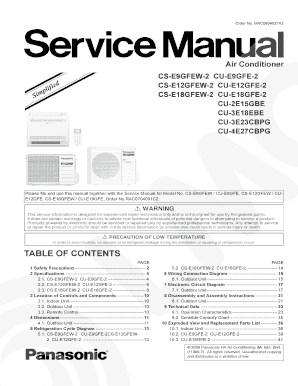 fillable online panasonic air conditioner simplified service manual rh pdffiller com panasonic window air conditioner service manual panasonic split air conditioner service manual