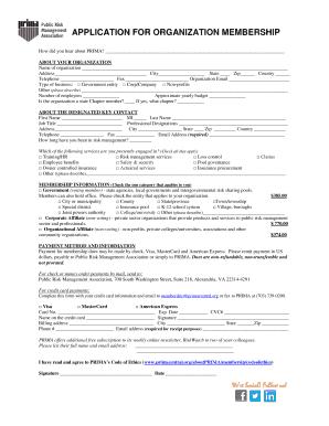 organization membership form template