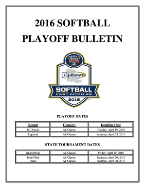 PLAYOFF DATES - nocache lhsaa