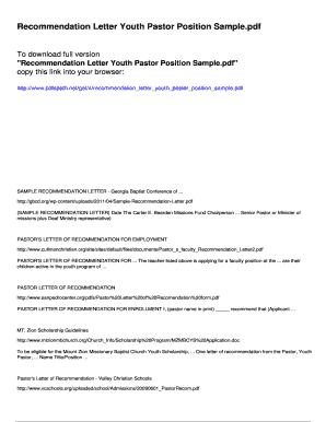 Letter of recommendation for pastor position goalblockety letter thecheapjerseys Images