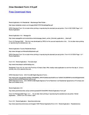 Orea Standard Form 410 Fill Online, Printable, Fillable, Blank