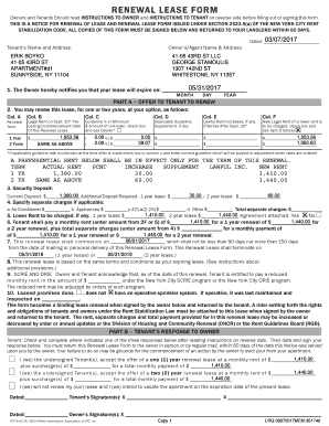 fillable online renewal lease form rsanyc net fax email print