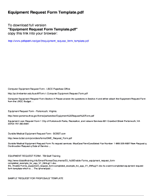 Fillable Online Equipment Request Form Template Pdfslibforyou Fax Email Print Pdffiller