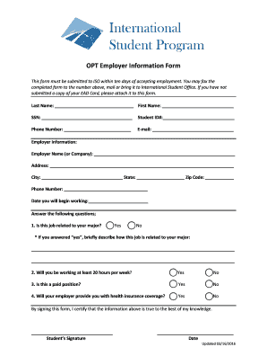 OPT Employer Information Form - Moorpark College - moorparkcollege