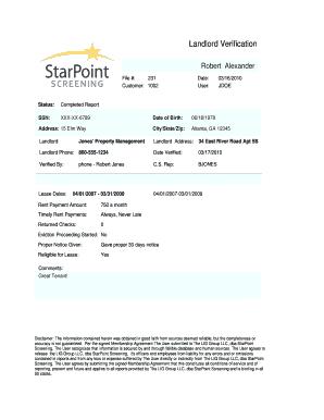 landlord verification starpoint tenant screening