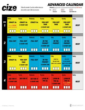 cize advanced calendar Fillable Online Cize Advanced Calendar PDF Download - Fit Dad Chris ...