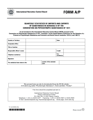 International Narcotics Control Board FORM A/P  - incb.org