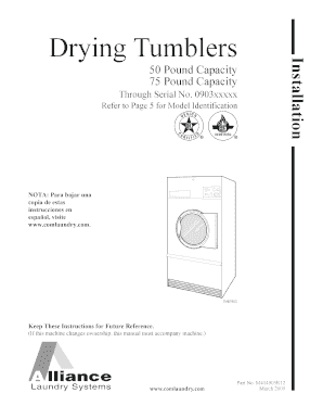 Fillable online installation for drying tumblers 50 and 75 pound fill online publicscrutiny Gallery