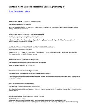 North Carolina Association Of Realtors Standard Form 410 T