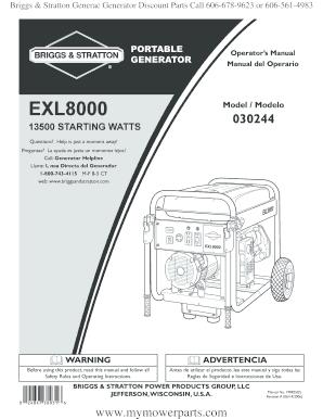 Fillable online briggs stratton generac generator discount parts fill online swarovskicordoba Images