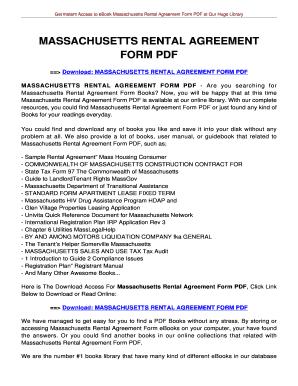 Rental Agreement Form Edit Fill Print Download Online
