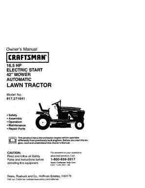 Craftsman 650 Series Key Start Lawn Mower