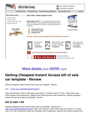 florida car bill of sale