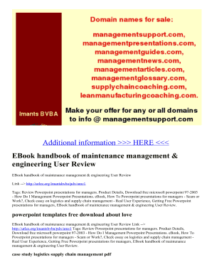 handbook of maintenance management and engineering pdf