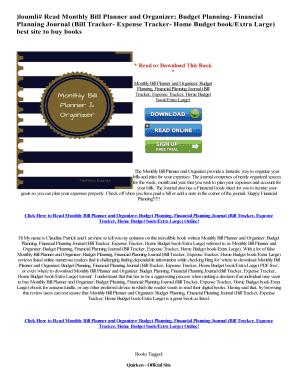 monthly bill organizer online