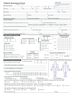 Fillable Online Patient Summary Form - OptumHealth Provider ...