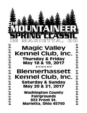 Fillable Online Magic Valley Kennel Club Inc
