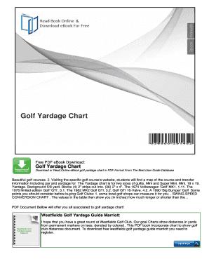 Fillable Online Golf Club Yardage Chart Online Online Pdf Storage