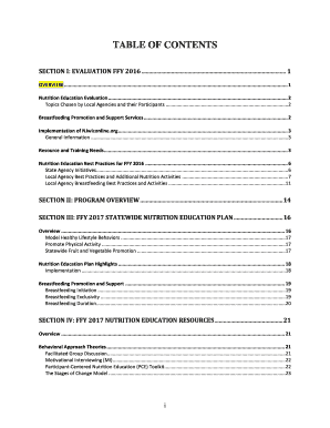 Fillable Online Nutrition Education Evaluation Fax Email Print Pdffiller