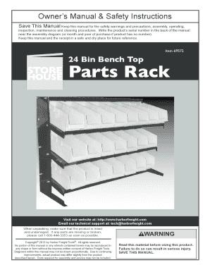 fillable online parts rack harbor freight tools fax email print rh pdffiller com Harbor Freight Tool Replacement Parts Harbor Freight Heater Parts List