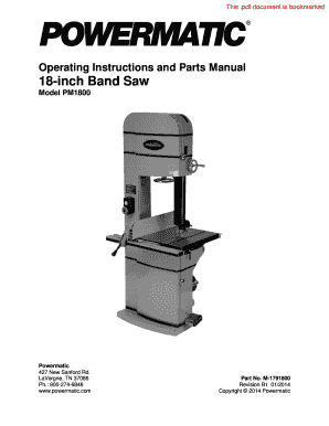 Fillable Online Operating Instructions and Parts Manual 18