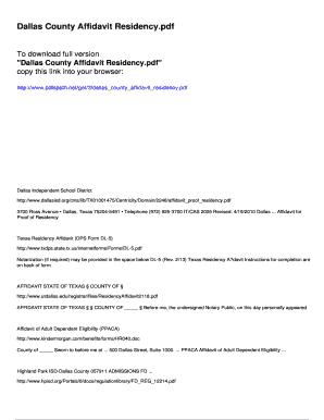 Editable domestic partnership affidavit template fill print dallas county affidavit residency pdfslibforyou altavistaventures Image collections
