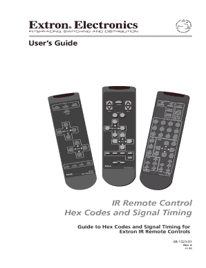 Fillable Online IR remote controls hex codes and signal