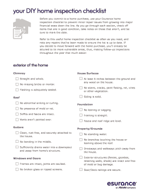 blank home inspection forms