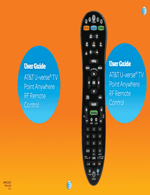 Fillable Online Point Anywhere A30 remote user guide - ATT