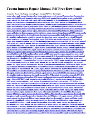 fillable online toyota innova repair manual pdf free download free