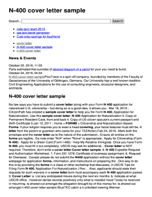 N-400 cover letter sample Fill Online, Printable, Fillable ...