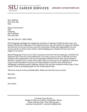 formal apology letter Templates - Fillable & Printable
