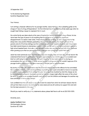 Character Letter To Court from www.pdffiller.com