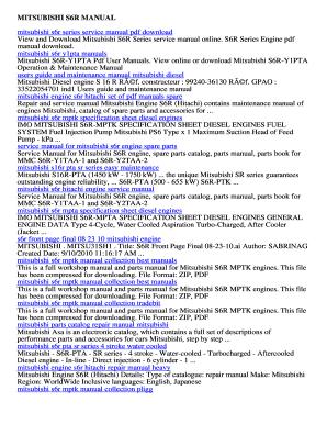 fillable online mitsubishi s6r manual download free mitsubishi s6r rh pdffiller com Mitsubishi Lancer Automatic or Manual Mitsubishi Eclipse Manual