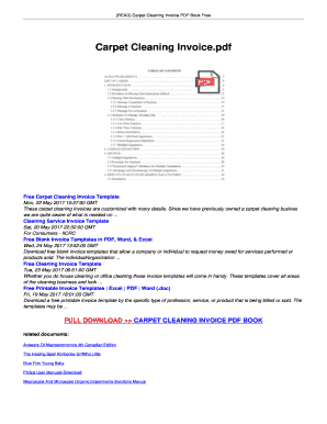 Fillable Online PDF Download Carpet Cleaning Invoice Free Download - Online invoice book
