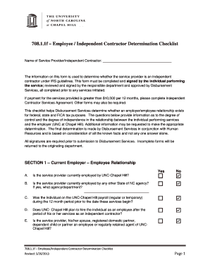 fillable online 1f employee independent contractor determination