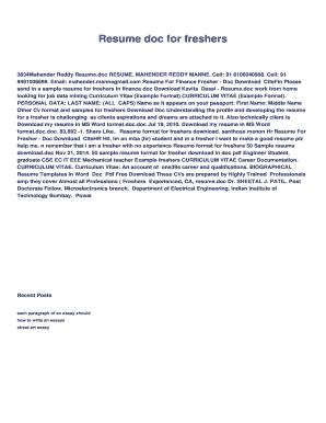 curriculum vitae download doc