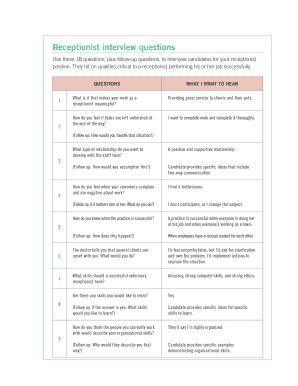 Receptionist Appraisal Examples