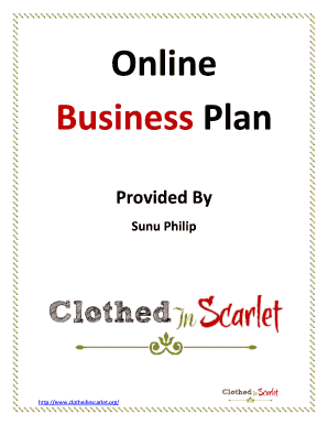 Fillable Online Business Plan Template Free Download Edit Online - Online business plan template
