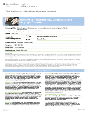 Fillable Online The Pediatric Infectious Disease Journal ...