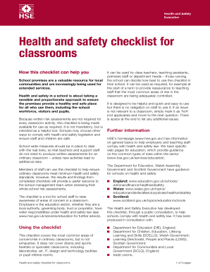 Health And Safety Audit Checklist For Schools | Graph Pedia