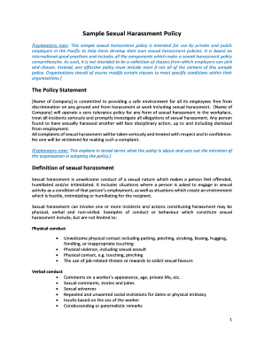 Editable sample workplace harassment complaint letter fill sample workplace harassment complaint letter sample sexual harassment policy ilo spiritdancerdesigns Image collections