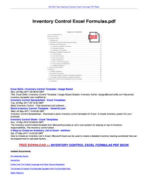 Excel Formula Book Pdf