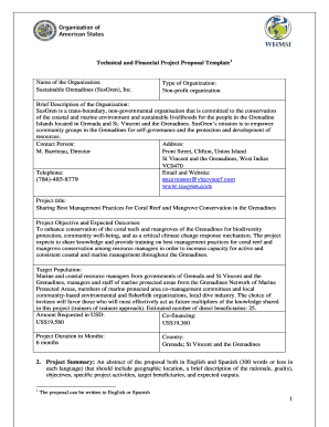 Technical and Financial Project Proposal Template