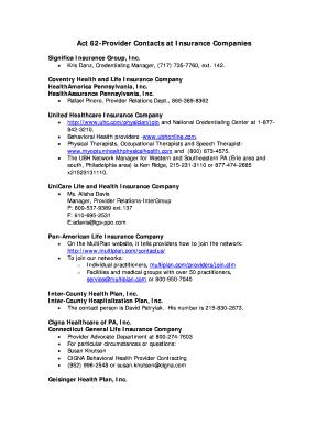 Editable United Healthcare Behavioral Health Providers Fill Print