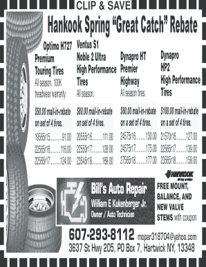 Fillable Online Bill's Auto Repair-coupon crtr Fax Email