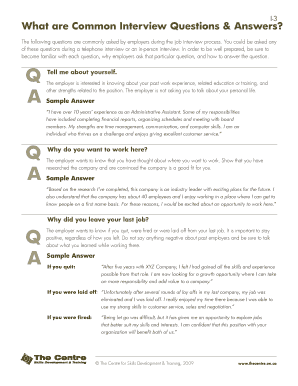 6 Printable job interview questions to ask Forms and ...